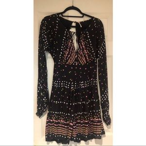 Free People open back polka dot dress